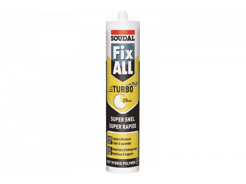 Soudal fix all turbo blanc 290ml