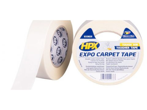 Hpx expo carpet tape blanc 38mmx25m