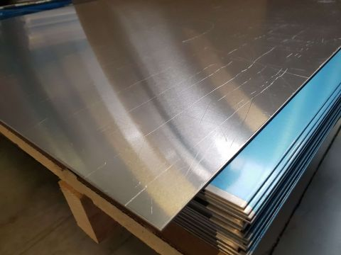 Plaq alum 2mm 1250x2000 almg3 + folie