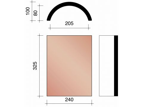 Kor aretier 210mm dr 451 rouge naturel