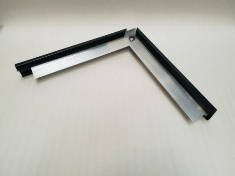 Alu rive toit clips nf couvre-joint an coin e